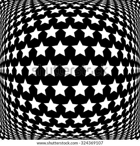 Stars pattern. Abstract textured background. Vector art. - stock vector