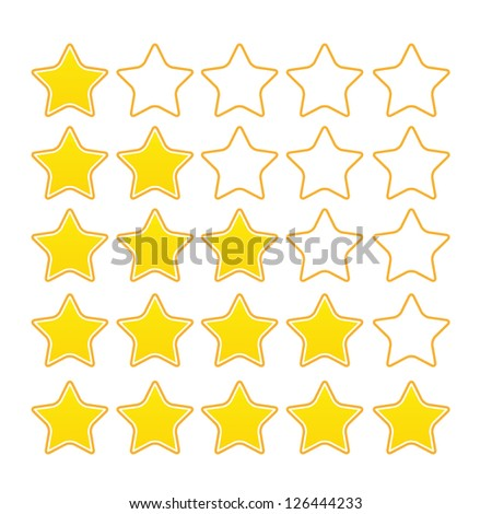 stars ratings vector  button - stock vector