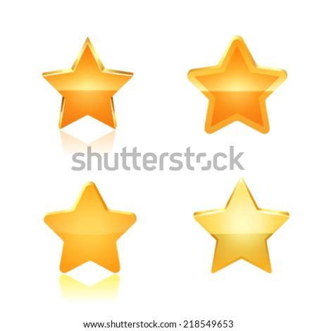 Stars set. Vector - stock vector