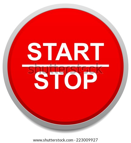 Start and stop button - stock vector