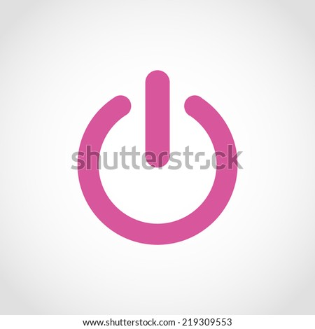Start icon , power button Isolated on White Background - stock vector