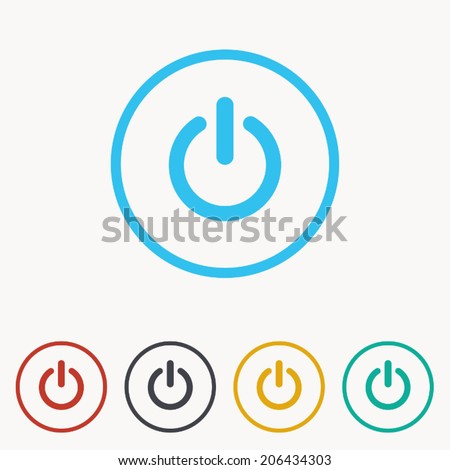 start icon , power button ,vector illustration - stock vector