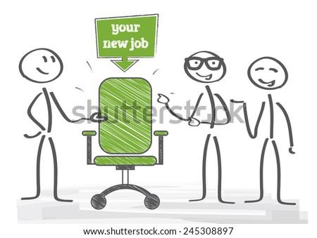 Start new career, your new job - stock vector