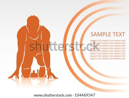 Start of race - vector background - stock vector