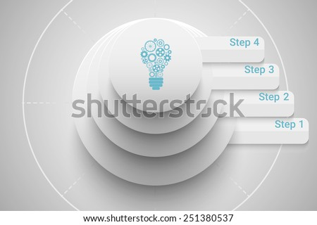 Start up business concept in bright style. Eps10 vector for your design. - stock vector