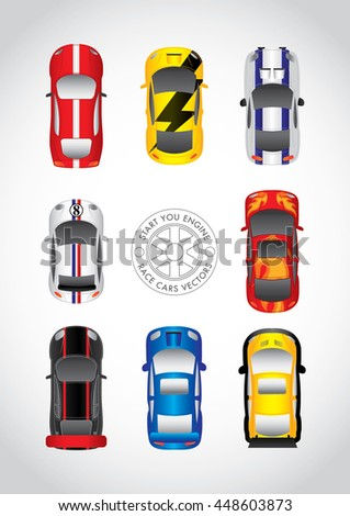 start your engine - stock vector