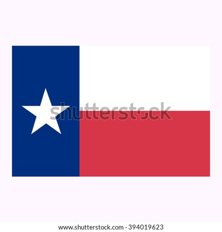 State of Texas flag icon - stock vector