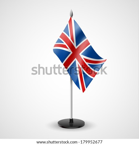 State table flag of United Kingdom. National symbol   - stock vector
