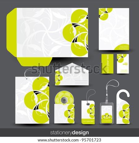 Stationery design set in vector format - stock vector