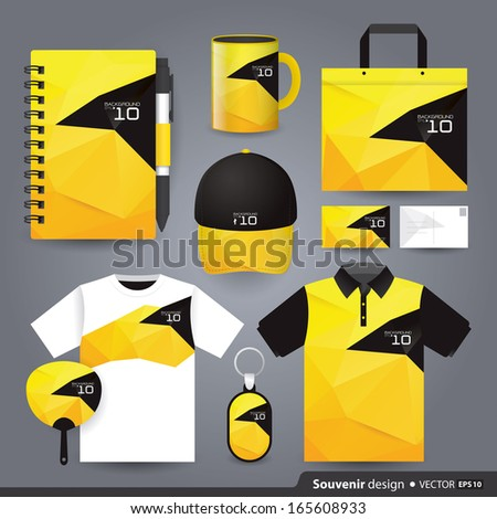 Stationery set design / Gift set template / Corporate identity design vector.  - stock vector