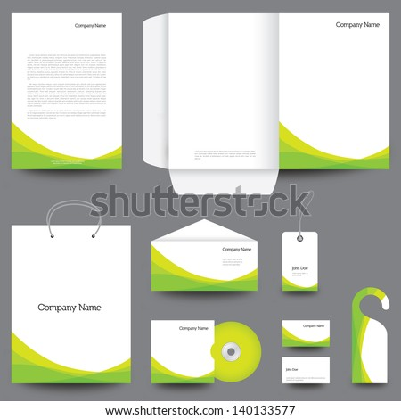 Stationery template design - stock vector