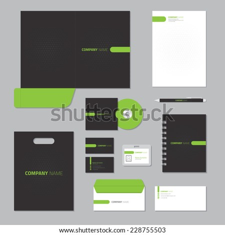 Stationery template design. Corporate identity business set. - stock vector