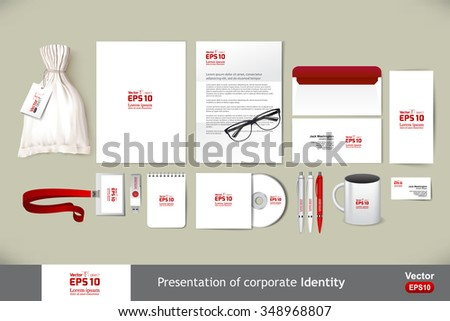 Stationery template mockup. Documentation for business. - stock vector