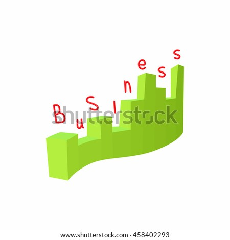 Statistics business icon in cartoon style isolated on white background. Information symbol - stock vector