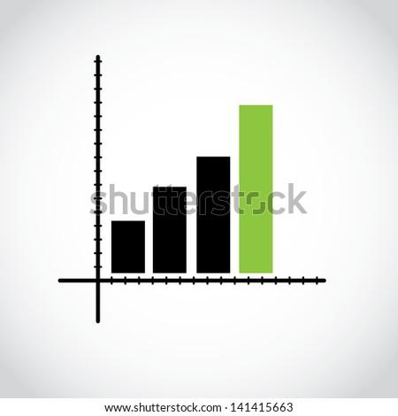 statistics icon - stock vector