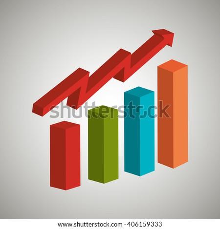 statistics icon design  - stock vector