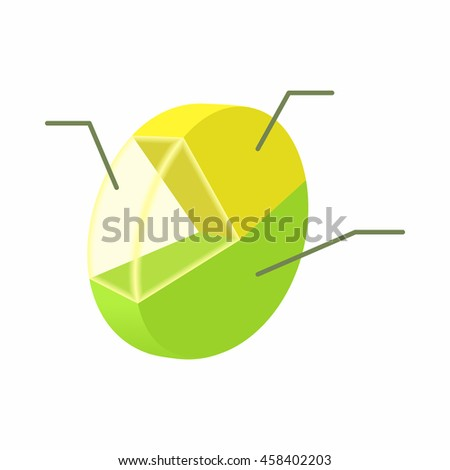 Statistics icon in cartoon style isolated on white background. Information symbol - stock vector