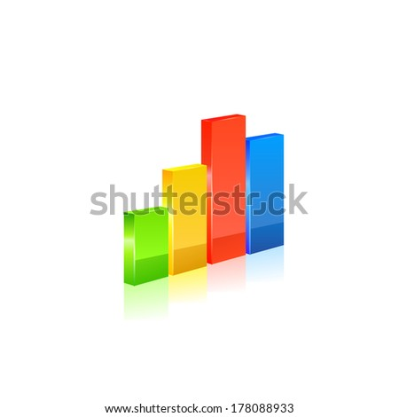 Stats icon on white background. Vector - stock vector