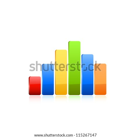 Stats icon. Vector - stock vector
