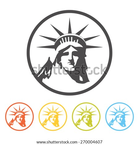 Statue of Liberty icon, vector. Pictogram, symbol of New York.  - stock vector