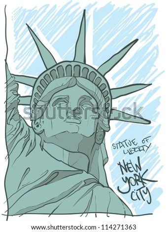 Statue of Liberty NYC. - stock vector