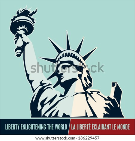 Statue of Liberty. USA - stock vector