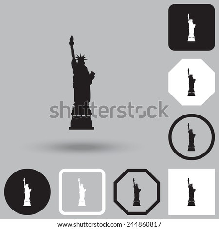Statue Of Liberty vector icon. - stock vector
