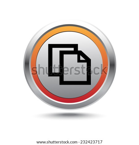 Steel button copy vector icon - stock vector