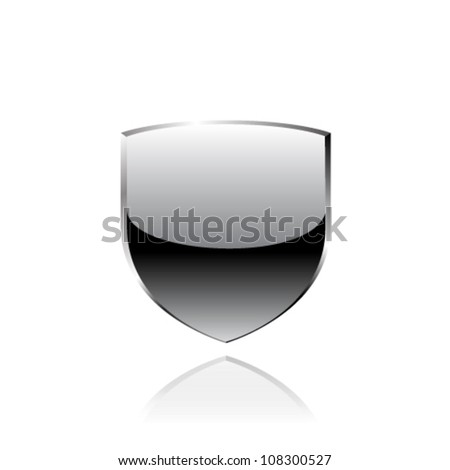 Steel shield. Vector - stock vector