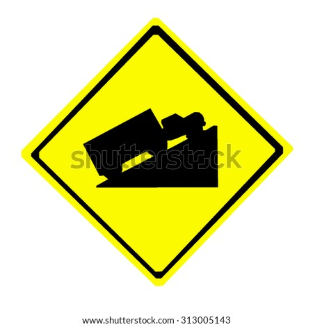 Steep Hill Ascent Signs - stock vector