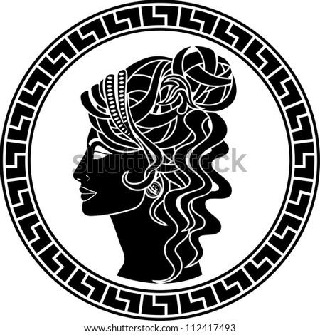 stencil of aristocrat woman. vector illustration - stock vector
