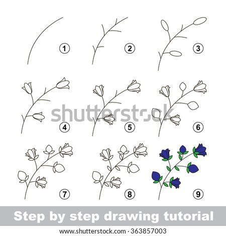Tutorial stock vectors vector clip art shutterstock for Drawing tutorials step by step