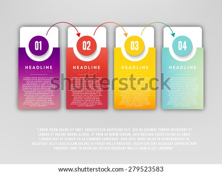 Step by step illustration - stock vector