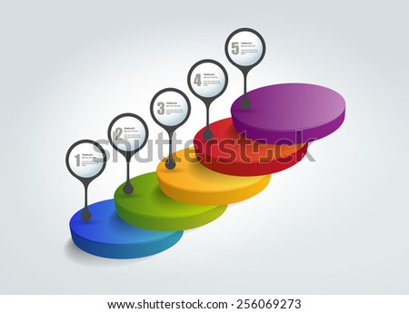 Step by step template. Numbered chart. Infographic element. - stock vector