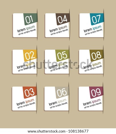 step by step with numbers over brown background. vector illustration - stock vector