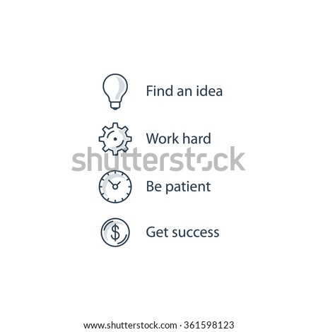 Steps to seccess - stock vector