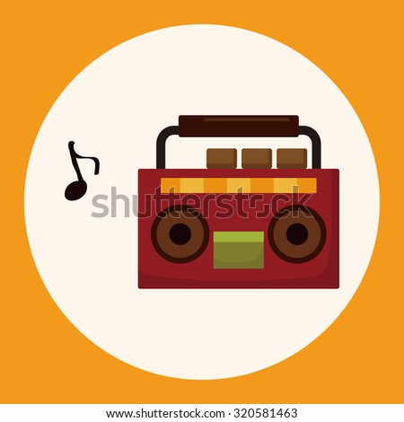 stereo speakers theme elements - stock vector