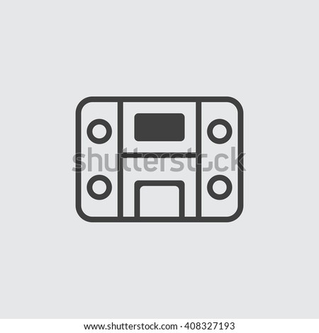 Stereo system Icon, Stereo system Icon Eps10, Stereo system Icon Vector, Stereo system Icon Eps, Stereo system Icon Jpg, Stereo system Icon Picture, Stereo system Icon Flat, Stereo system Icon App - stock vector