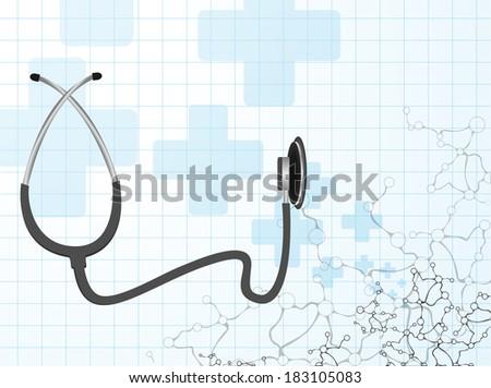 Stethoscope  molecule vector  - stock vector