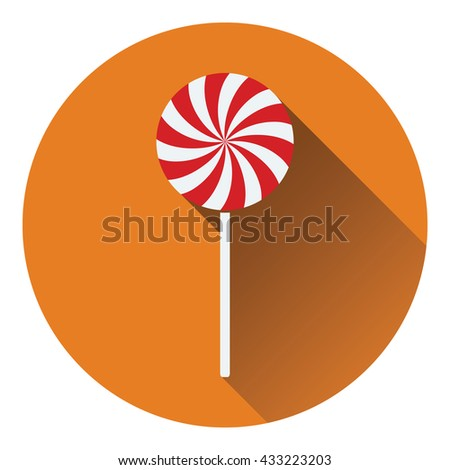 Stick candy icon. Flat design. Vector illustration. - stock vector