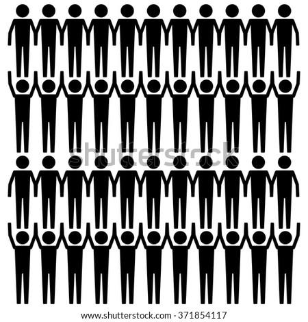 Stick man icon set . Vector illustration - stock vector