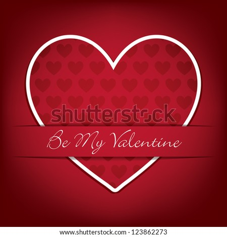 Sticker heart Valentine's Day card in vector format. - stock vector