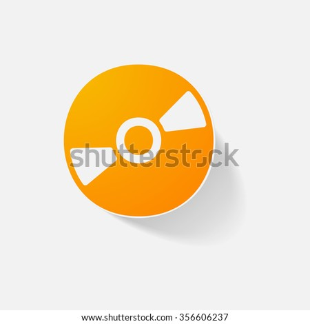 Sticker paper products realistic element design illustration disc - stock vector