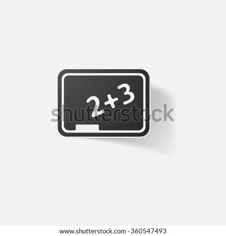 Sticker paper products realistic element design illustration school board - stock vector