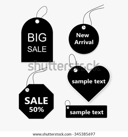 sticker price tag vector - stock vector