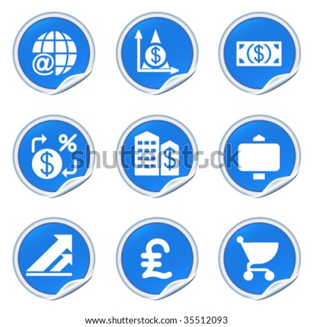 Sticker with icon 23 - stock vector