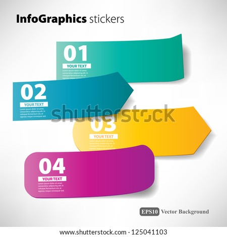 stickers infographic - stock vector