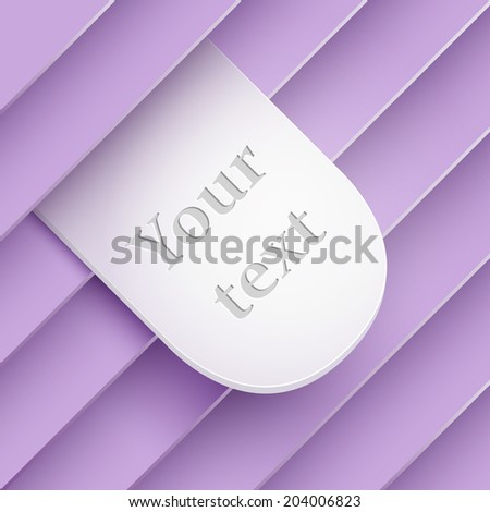 Stickers sticking out of the divider on paper background. Part of set. - stock vector