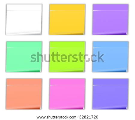 Stickers. Vector illustration. - stock vector