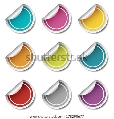 Stickers Vector Set. - stock vector